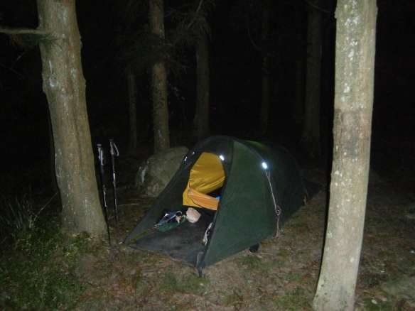 My first night's camp - by the trailhead.