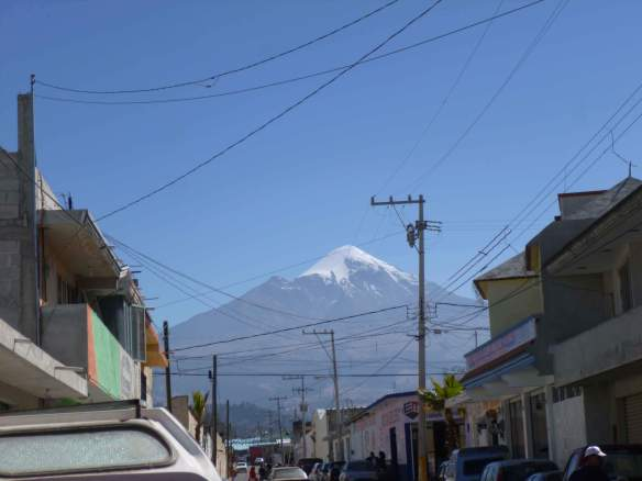 Seen from the nearby village of Tlachichuca, Orizaba's prominence is evident.