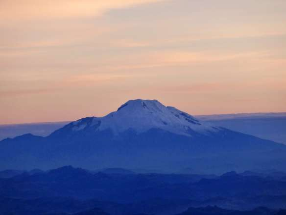 Cayambe under a color-changing sky.