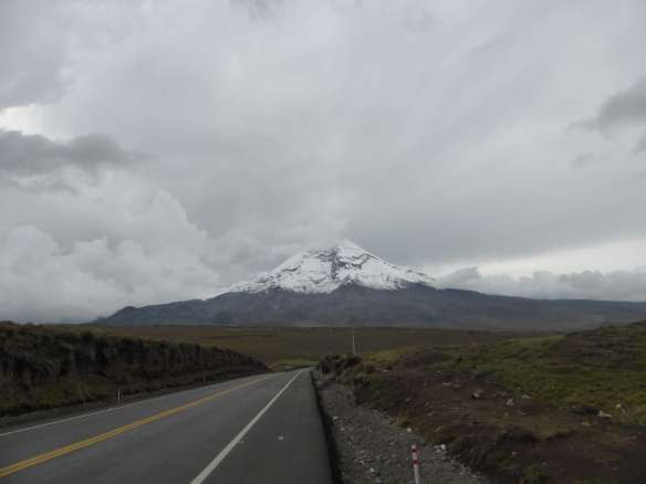 Driving towards Chimborazo.