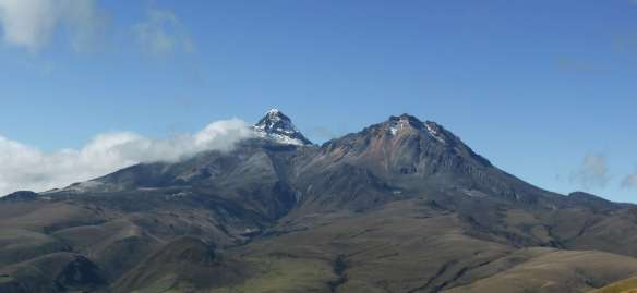 Illiniza Sur, left, and Illiniza Norte, right, as seen from near the summit of Corazon.