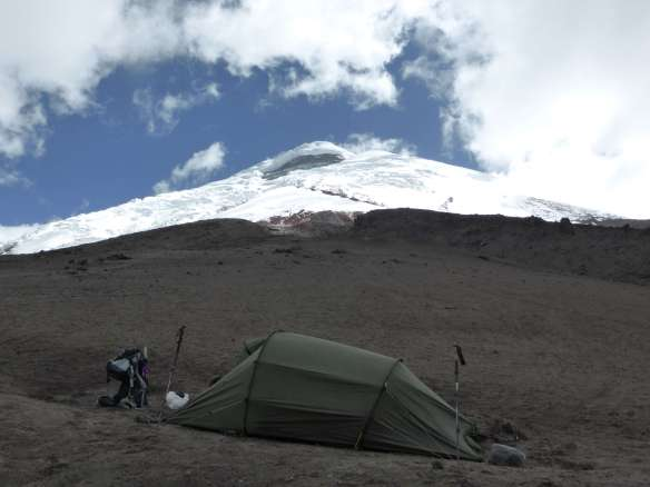 Camping at the base of Cotopaxi.