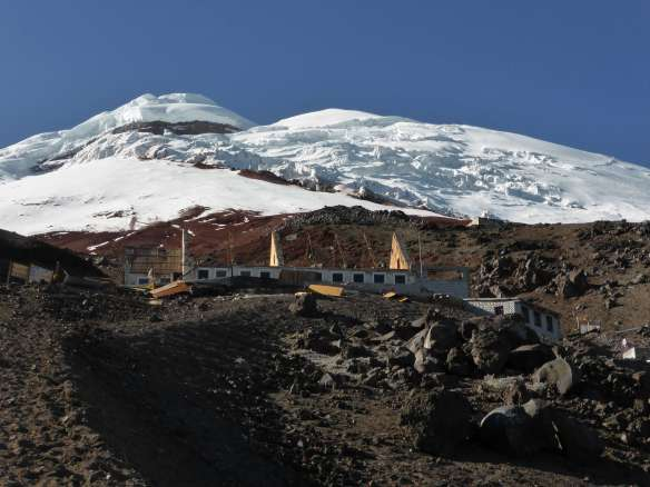 The Cotopaxi refuge under renovation.