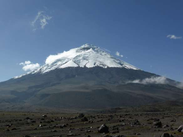 Cotopaxi from the road to basecamp.