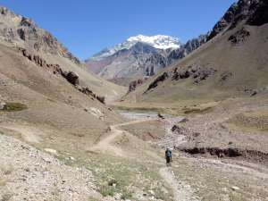 Aconcagua from near the Horcones trailhead.
