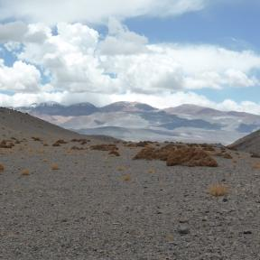 Crossing the Atacama desert.