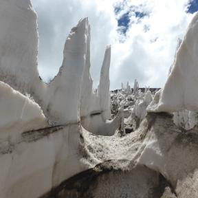 Penitentes, the only water source for sections of the approach.