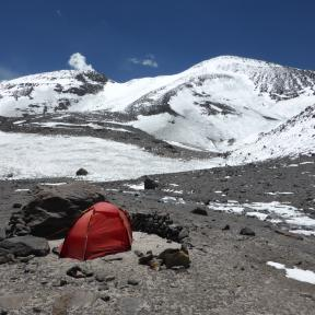 Camp at the base of Ojos.