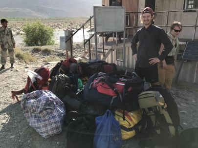 Our group's gear, at the Afghan/Tajik border.