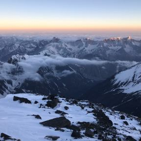 Sunrise from 7000m.
