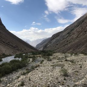 The valley which leads to Noshaq Basecamp.
