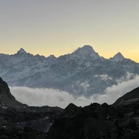 Sunset, Daxue Shan Range